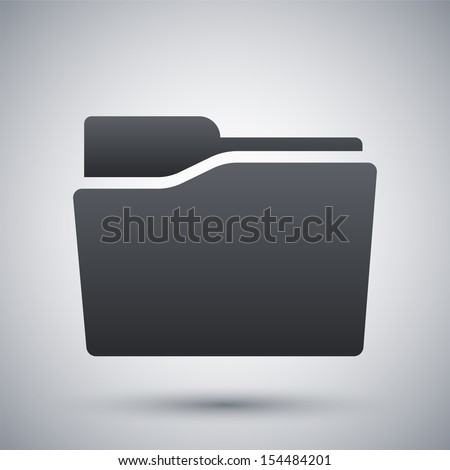 Vector folder icon - stock vector