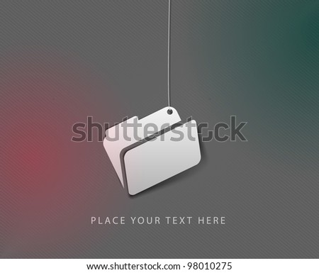 Vector folder with documents icon element. - stock vector