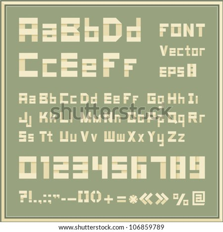 Vector font - stock vector
