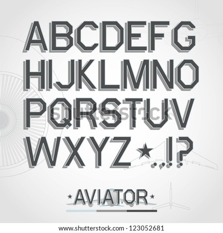 Vector font. Full alphabet - stock vector