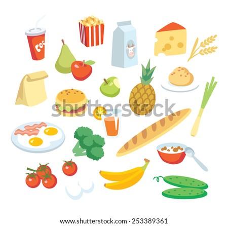 vector food  - stock vector