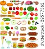 Vector Food Items - stock vector