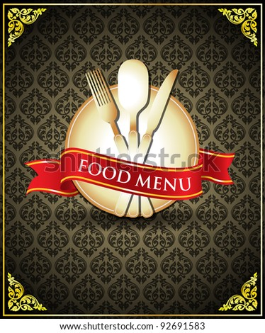 Vector food menu cover