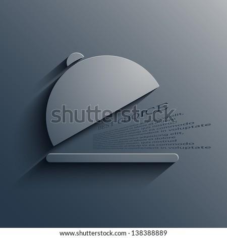 Vector food modern background. Eps10 - stock vector