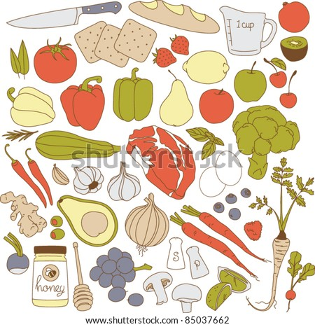 Vector Fool Illustration Set - stock vector