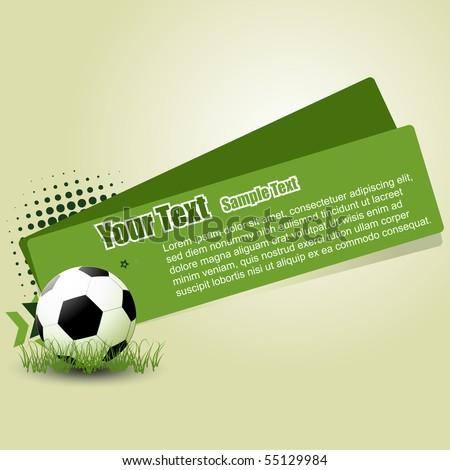 vector football abstract design illustration - stock vector