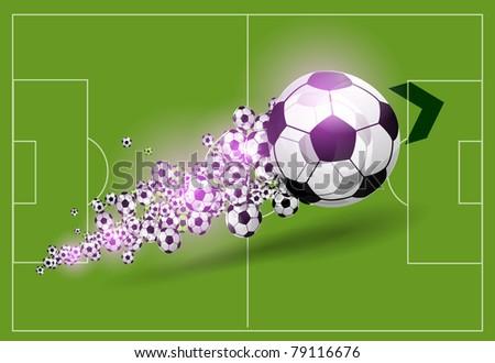 Vector football background - stock vector