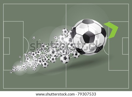 Vector football background - stock vector