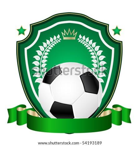 vector football emblem - stock vector