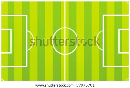 vector football field - stock vector