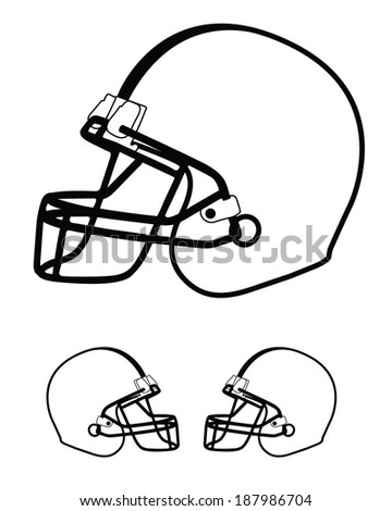Vector Football Helmet Template Set Stock Vector 187986704 ...