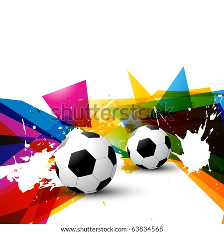 vector football on colorful abstract background - stock vector