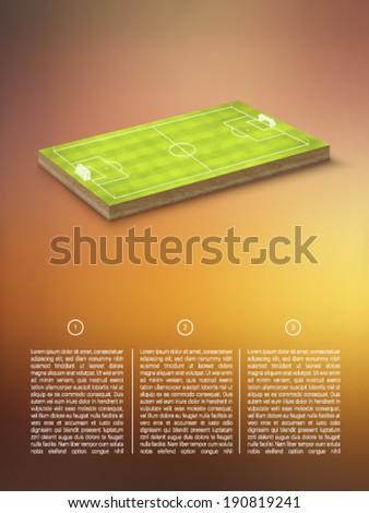 vector football/soccer field - stock vector