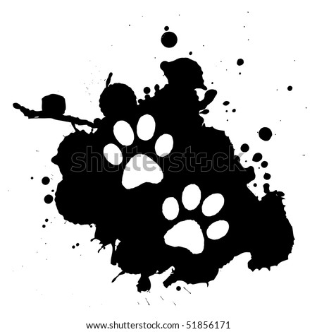 Vector footprints. Grunge style. - stock vector