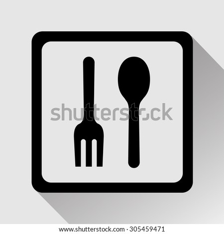 Vector fork and spoon icon, Illustration EPS10