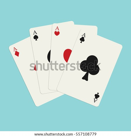 Vector Four Aces Playing Cards