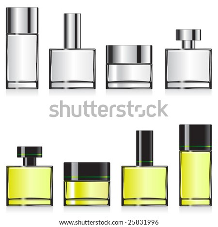 Vector fragrance container templates for designers. Editable. No mesh - stock vector