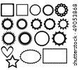 Vector frame collection - stock vector