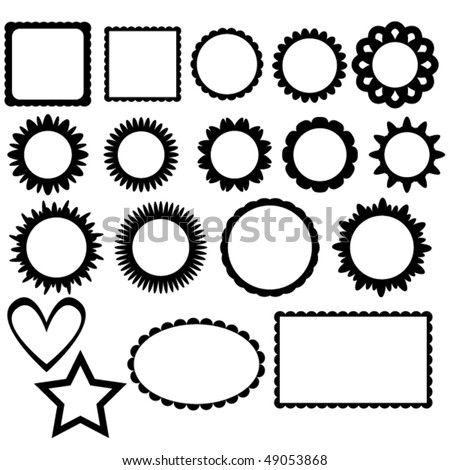 Vector frame collection - stock vector