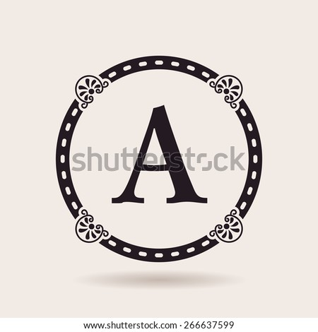 Vector frame design templates. Vintage labels and badges for logos quality - stock vector
