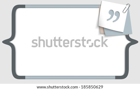 vector frame for any text with square brackets and quotation mark - stock vector