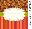 Vector frame for invitation or greeting card. Colorful backgrounds with leaves - stock vector