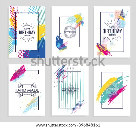 Vector frame for text and labels in the style of Modern Art graphics for hipsters background paint, design element for design business cards, invitations, gift cards, flyers and brochures - stock vector