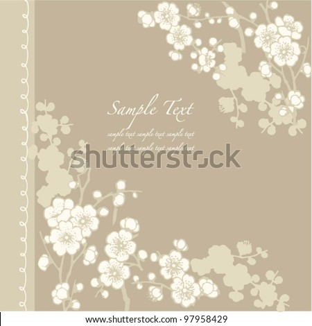 Vector frame for Wedding invitations or announcements - stock vector
