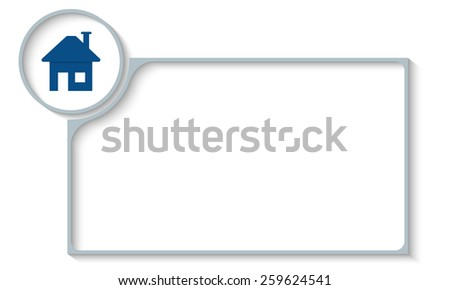 vector frame for your text and home symbol - stock vector