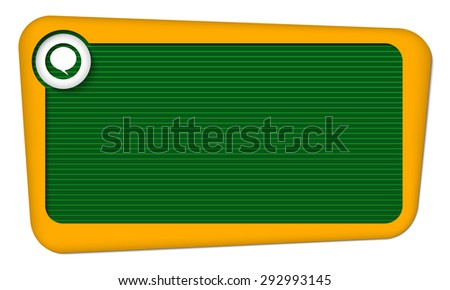Vector frame for your text with lines and speech bubble - stock vector