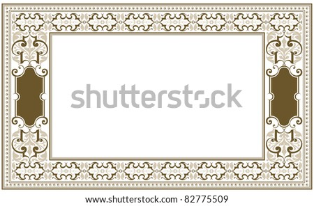 vector frame in antique style
