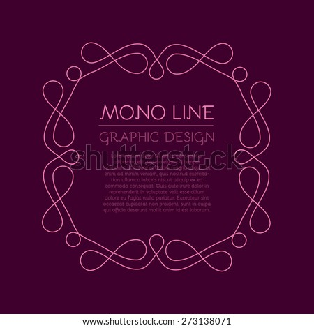 Vector frame in trendy line style - stock vector