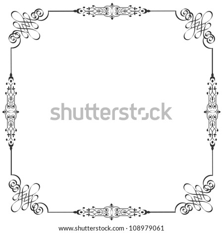 Vector frame in vintage style - stock vector
