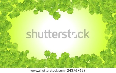 Vector frame of a St. Patrick's Day Background  - stock vector