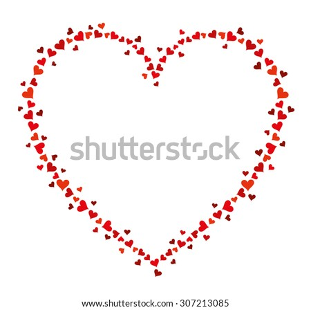 vector frame of many hearts for text on white background valentines day