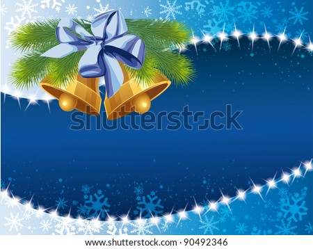 vector frame with bells
