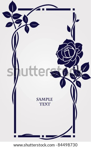 Vector frame with rose - stock vector