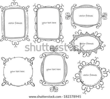 vector frames - stock vector