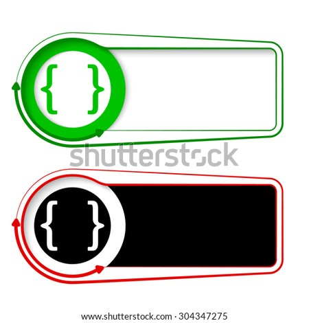 Vector frames for your text with arrows and square brackets - stock vector
