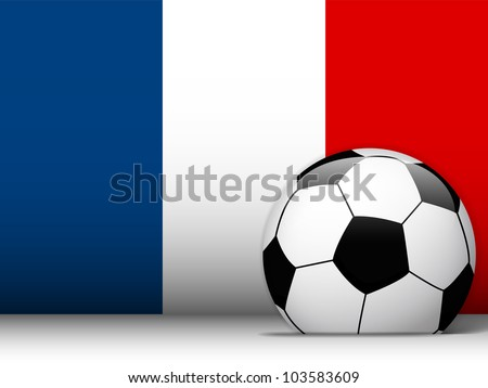 Vector - France Soccer Ball with Flag Background