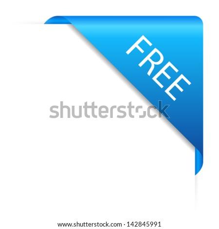 Vector free corner - stock vector