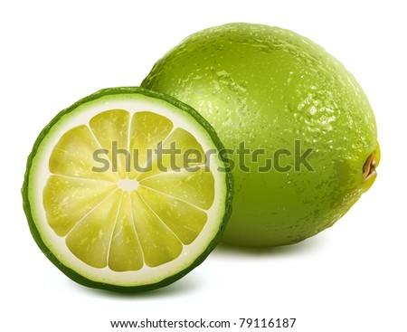 Vector fresh lime - stock vector