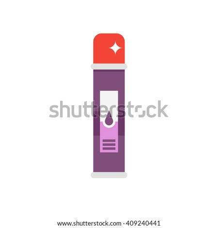 Vector freshener flat icon. Air freshener in the toilet. - stock vector