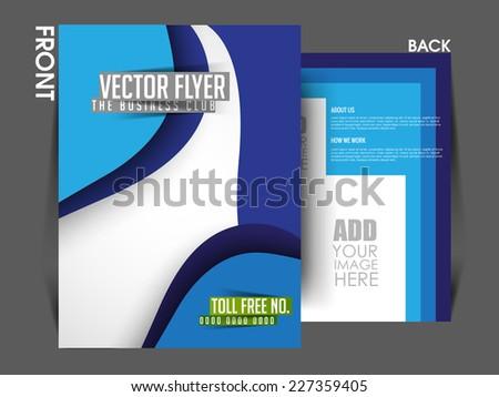 Vector Front & Back Flyer Template, Poster Cover,Brochure Design. - stock vector