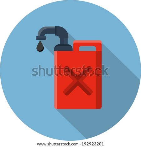 Vector Fuel Container or Gas Can - stock vector