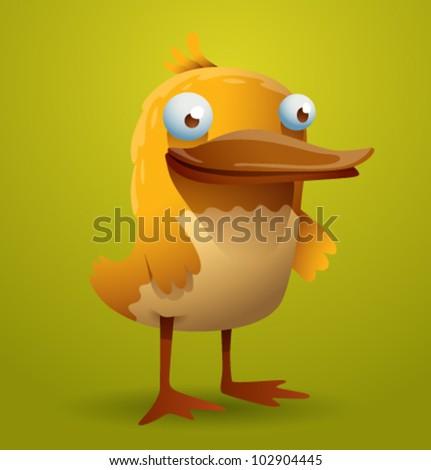 vector funny bird 10 - stock vector