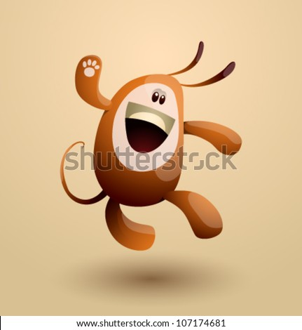 Vector funny egg monster 05 - stock vector