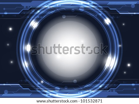 vector future interface technology abstract background - stock vector