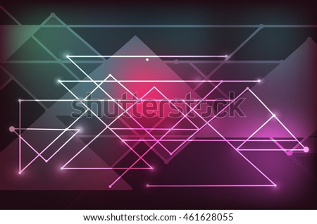 Vector futuristic techno texture. Abstract energy line on dark background.