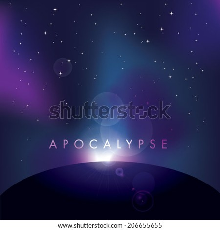 vector galaxy illustration - stock vector